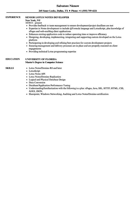 Lotus Notes Developer Sle Resume by Top Executive Resumes Sles Free Resume Templates For Mac Professional Finance