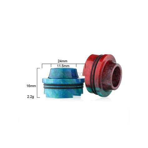 Driptip Wide Bore Resin 16mm random color epoxy resin drip tip for ijoy limitless rdta
