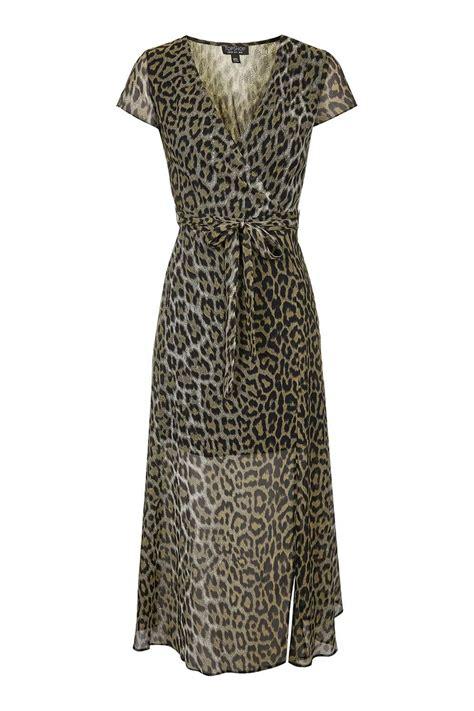 leopard print wrap maxi dress topshop