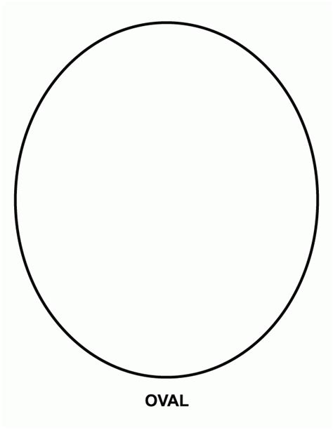free printable oval template az coloring pages