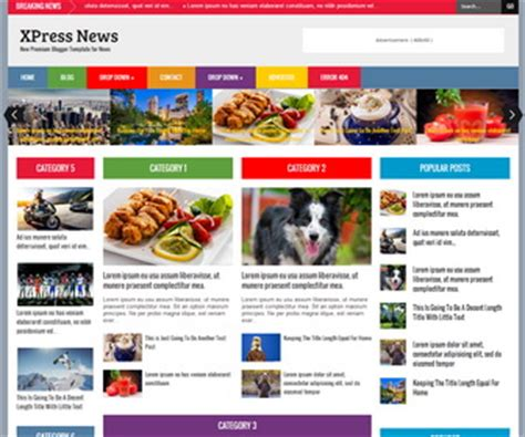 blogger themes for news xpress news blogger template blogger templates 2018