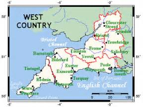 west county map west country