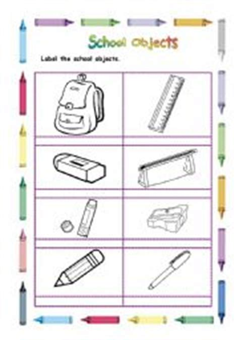 school objects matching b w worksheets kola pinterest school objects coloring pages