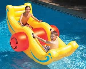 swimline 9058 swimming pool inflatable sea saw rocker see