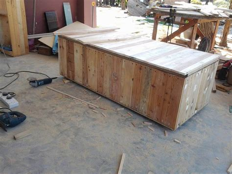 pallet bench with storage pallet outdoor bench with storage box 99 pallets