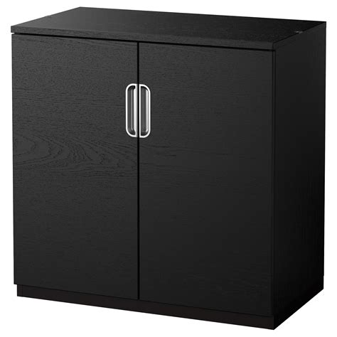 Galant Cabinet With Doors Black Brown 80x80 Cm Ikea Small Black Cabinet With Doors