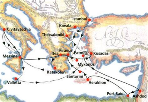 sailing from greece to egypt cruises 10 days footsteps of st paul cruise italy
