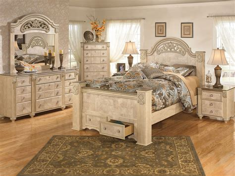 ashley queen bedroom set ashley furniture b346 saveaha queen king poster storage