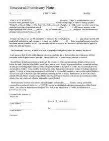 unsecured note template unsecured promissory note template wikidownload