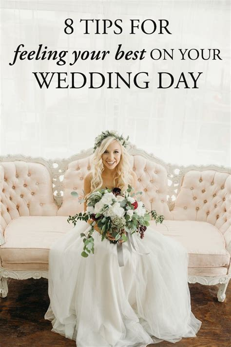 8 Tips for Feeling Your Best on Your Wedding Day   Junebug