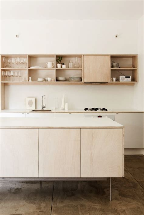 plywood kitchen on