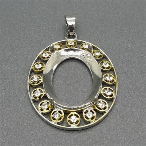 Cincin Model 193 liontin cangkang rhodium tabur mata yang elegan pusaka dunia