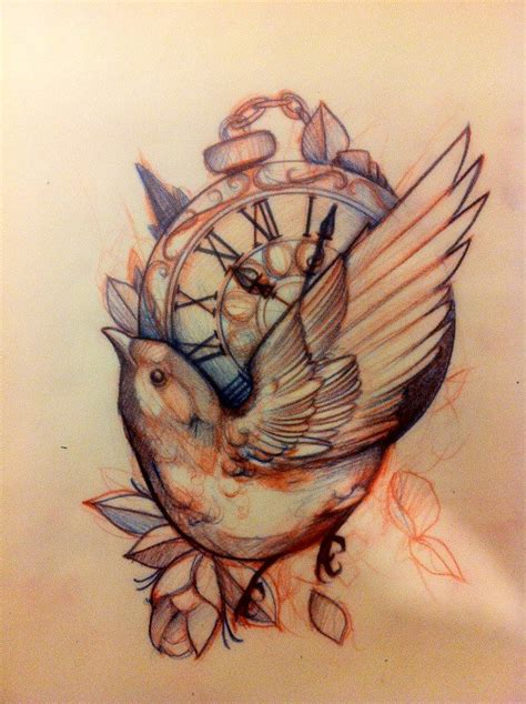 tattoo compass bird mitch allenden amazing work tattoo design pinterest