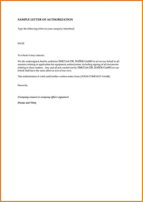 authorization letter on behalf sle how to write an authorization letter authorization