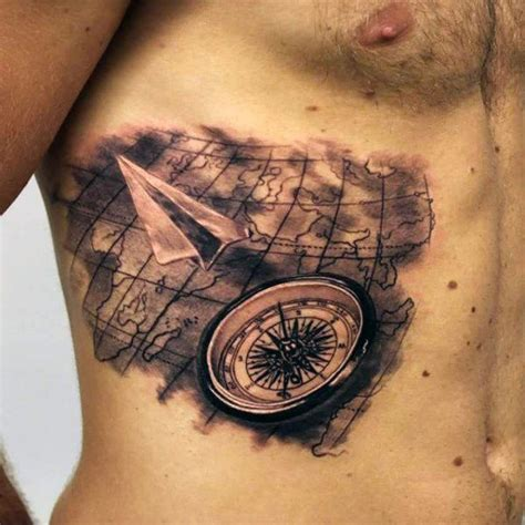 compass tattoo airplane 60 paper airplane tattoo designs for men cool ink ideas