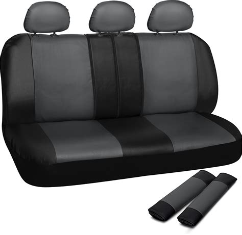 faux leather bench seat truck seat covers for auto ford f150 bench grey black w