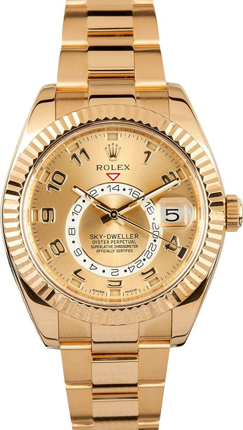 Rolex Dweller Gold rolex sky dweller yellow gold best prices at bob s watches