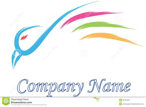 bird logo company stock illustration illustration of