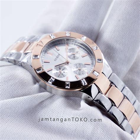 Jam Tangan Wanita Aigner Devaraa Silver Rosegold Murah harga sarap jam tangan guess glisten two tone w14551l1 silver rosegold
