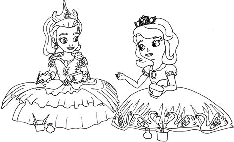 sofia the first coloring pages december 2015