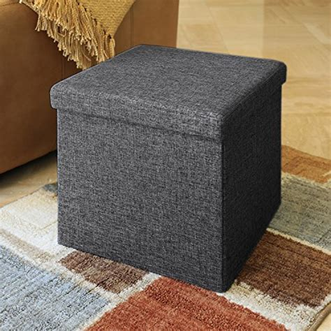 seville classics foldable storage bench ottoman charcoal gray seville classics foldable storage ottoman charcoal gray
