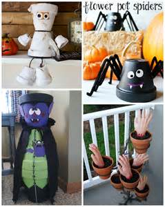 Halloween Monster Crafts - flower pot halloween crafts crafty morning