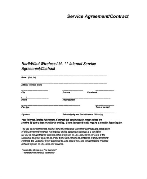 signed agreement template sle service agreement contract 8 exles in word pdf