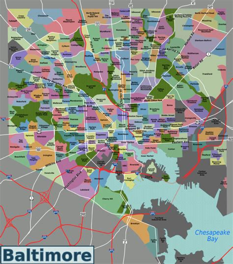 zip code map baltimore list of baltimore neighborhoods wikipedia
