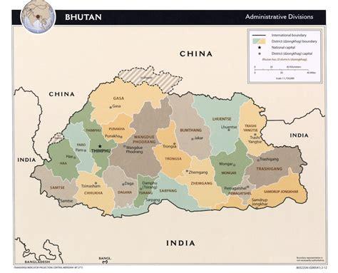 where is bhutan on a world map bhutan maps
