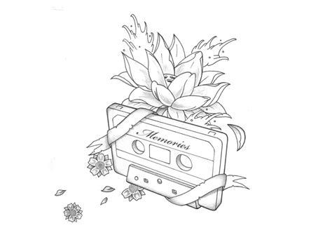 black  grey lotus flower tattoo design  muddygreen