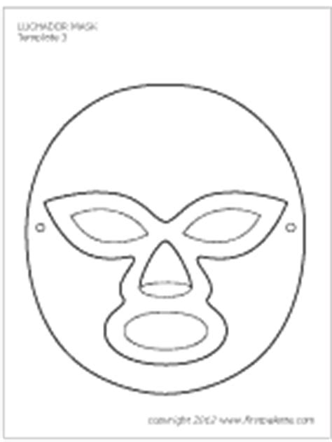 printable luchador masks luchador paper mask printable templates coloring pages