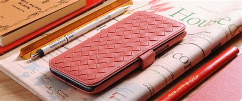 Htc U11 Style Leather Casing Cover custom made to order genuine leather woven book style