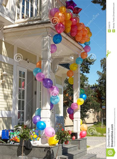 house  balloons  stock image image  colours