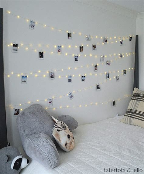 wall fairy lights bedroom tween teen fairy light photo wall