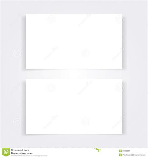 plain place card template blank business card mock up set stock vector image 55693377