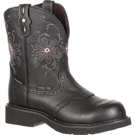justin work s steel toe western waterproof work boot
