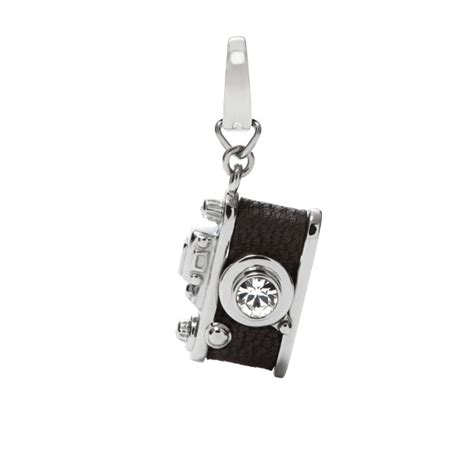 Fossil Initial Bagcharm charm black fossil