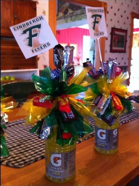 football banquet centerpieces edible and drinkable centerpieces for football banquet