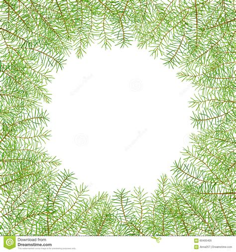 card frames templates pine boughs watercolor pattern with pine branches stock image