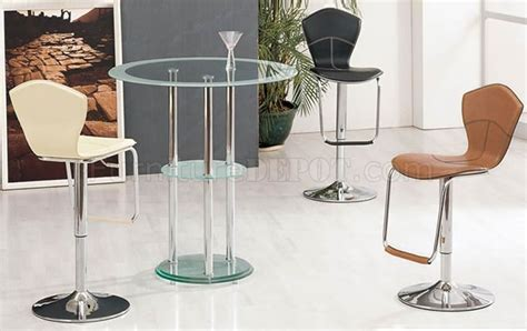 frosted bar top bar set with glass top metal base and frosted glass shelf