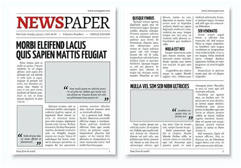 Old Newspaper Template And Format Photoshop Ad Teran Co Photoshop Newspaper Template