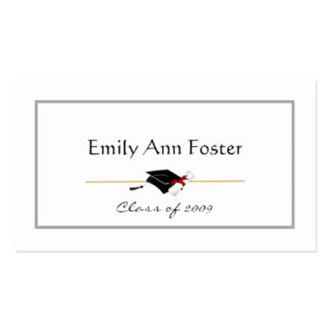 name card templates for graduation announcements free template for graduation name cards download free