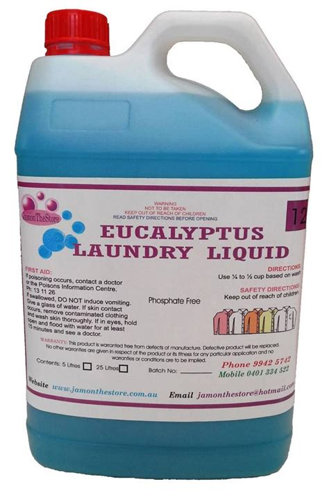 Parfum Laundry Grade A 5lt laundry liquid concentrated eucalyptus grade detergent for top load machine 5 lt ebay