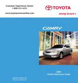 Pocket Source Toyota 2006 Camry Toyota 2006 Camry Pocket Reference Guide