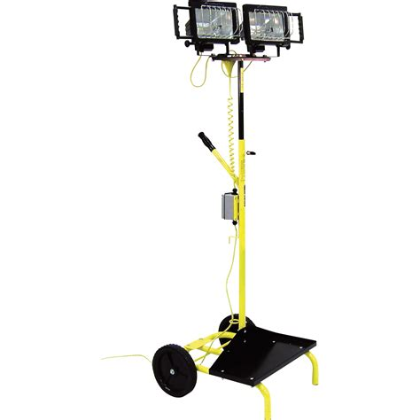 portable halogen work light stand fostoria portable dual head utility cart light stand