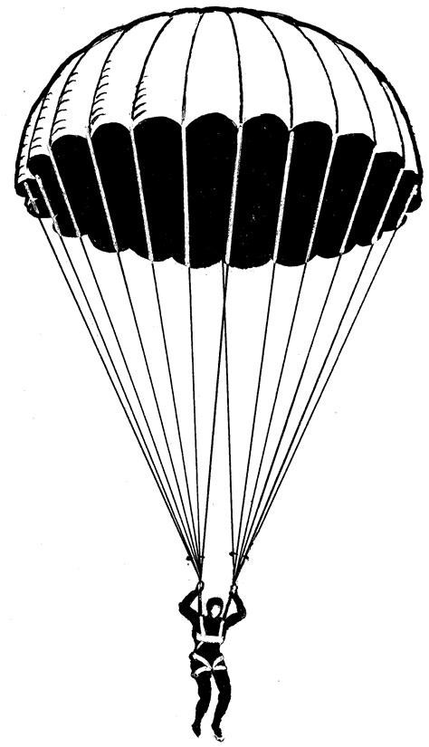 army parachute coloring pages army parachute clipart www imgkid com the image kid