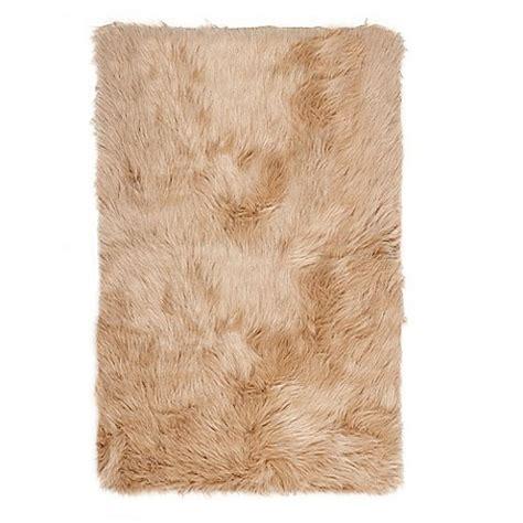Luxe Hudson Faux Fur Sheepskin Shag Rug Throw Bed Bath Sheepskin Bathroom Rug