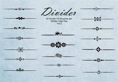 decorative line divider photoshop 20 divider ps brushes abr vol 2 free photoshop brushes