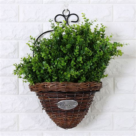 Home Garden Wall Mount Planter Flower Grass Hanging Basket Garden Wall Hanging Baskets