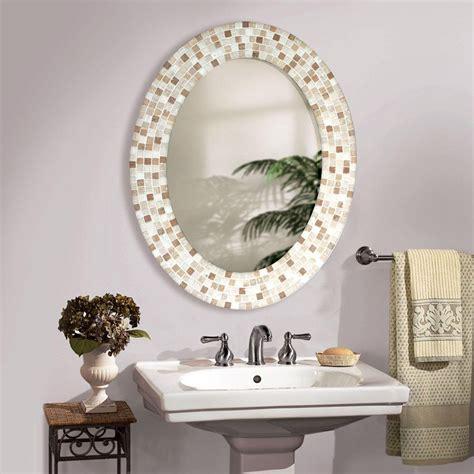 How To Frame An Oval Bathroom Mirror Ideas Oval Bathroom Mirrors Frame Home Design Ideas